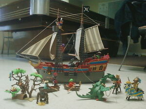 Playmobil package deal(Pirate ship, Dragon, Knights, and more)
