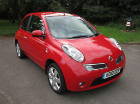 NISSAN MICRA 1.2 16v 79HP N-TEC 3DR RED 2010 (10) 62K FSH 5 X STAMPS / ONE OWNER