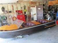 wodden molded mahogany plus 2 outboards  a 40 and a 50hp