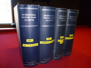 Volumes 1 - 4 Scott's International Stamp Albums