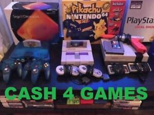 Cash 4 ALL Nintendo GameCube, SNES, N64, 3DS, Gameboy, Wii, PS1&