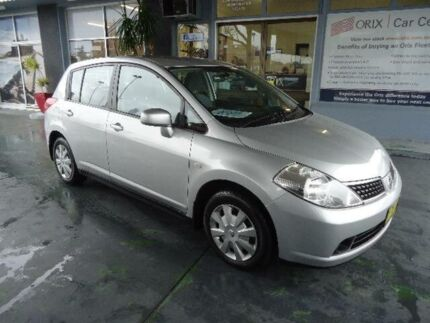 2008 Nissan Tiida C11 MY07 ST Silver 4 Speed Automatic Hatchback Hamilton Newcastle Area Preview