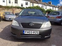Toyota Corolla 1.4 VVT-i T3 5dr£1,295 one owner