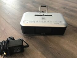 iHome Alarm Clock Radio Lightning Dock Station iDL95 USB FM Stereo
