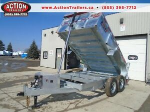 BETTER BUILT, 7 TON GALVANIZED HYDRAULIC DUMP TRAILER 7X12' BED