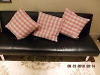 Leatherette sofa/bed