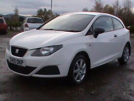 SEAT IBIZA 1.2 S 3 DR WHITE 1 YRS MOT CLICK ON VIDEO LINK TO SEE THIS CAR IN GREATER DETAIL