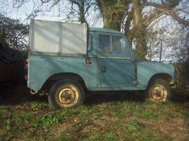 Landrover Series 3 pickup, 2.25 diesel, 1979, Spares or repairs.