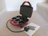 Shiny Red Cupcake/Muffin Maker as new excellent condition unwanted present c/w instruction leaflet