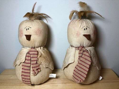Stuffed cloth primitive Easter chicks