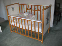Vintage Mothercare Cot and Bedding
