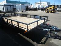 83 X 14' SINGLE AXLE WITH BRAKE LAMAR BUILT UTILITY TRAILER