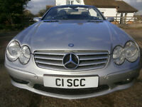 0404 MERCEDES-BENZ SL55 AMG 89K FSH 9 STAMPS, PANORAMIC GLASS ROOF