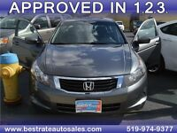 2008 Honda Accord EX-L Sedan AT, Sunroof, Leather, $62/Week!