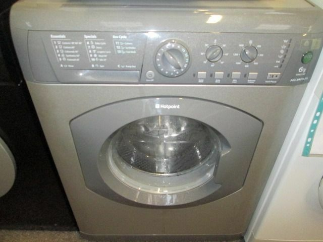 *SILVER*HOTPOINT 1400 SPIN+ECOTEC+ 6KG+WASHING MACHINE+VERY CLEAN+FREE LOCAL DELIVERY+FREE OLD UPLIF