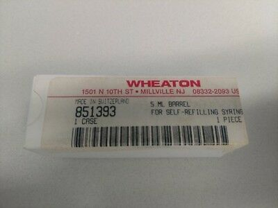 Wheaton Glass 5ml Barrel For Self-refilling Syringe - 851393 - Free Shipping