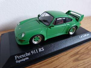 ORIGINAL-PORSCHE-911-993-RS-Verde-Signal-Minichamps-Coche-a-escala-1-43