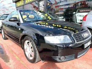 2003 Audi A4 B6 Multitronic Black 1 Speed Constant Variable Cabriolet Maidstone Maribyrnong Area Preview