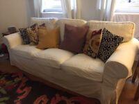Comfortable 3 seater Ektorp sofa from Ikea