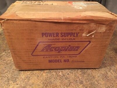 Acopian B12g300 Regulated Power Supply-welding Nib