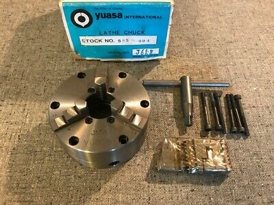 4 Yuasa 3-jaw Accu-chuck 585-004 Nos Buck Hardinge South Bend Clausing