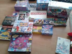 large bundle of kids board games / toys