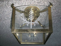 Decorative Brass & Glass Light Fixture