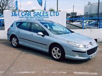 PEUGEOT 407 2.0 SW SE HDI 5d 135 BHP A LOW PRICE 5DR FAMILY HA (silver) 2007
