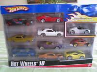 Coffret de 10 voitures miniatures Hot Wheels