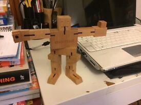 Natural Wood Micro Cubebot