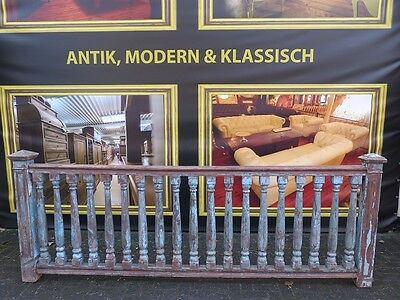 14269 Balustrade Geländer Massivholz Teakholz Antik 3,03 m Gründerzeit 1880