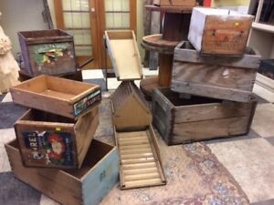 Wooden Boxes - Collectibles