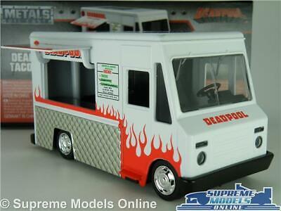 DEADPOOL TACO TRUCK VAN MODEL CAR 1:32 SCALE JADA 99800 WHITE SNACK CATERING K8