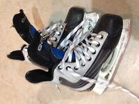 Hockey skates and hockey bags