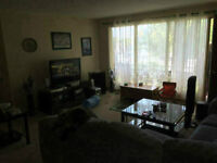 Main level 2-bdrm apartment in quiet triplex, available July 1