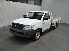 2010 Toyota Hilux TGN16R MY11 Upgrade Workmate Glacier White 5 Speed Manual Cab Chassis Moonah Glenorchy Area Preview