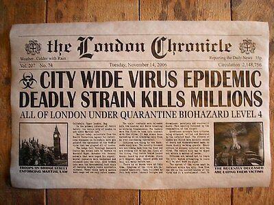 (230) NOVELTY POSTER HALLOWEEN ZOMBIE LONDON ENG MASS MURDER WALKING DEAD 11x17