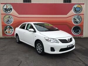 2012 Toyota Corolla ZRE152R MY11 Ascent White 4 Speed Automatic Sedan Gosford Gosford Area Preview