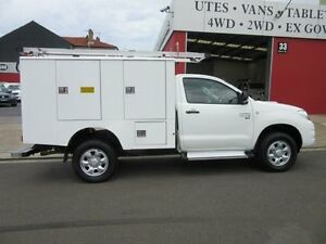 2011 Toyota Hilux KUN26R MY10 SR White 5 Speed Manual 2D CAB CHASSIS Croydon Burwood Area Preview
