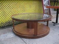 70s Retro Vintage Coffee Table Wood and Glass!