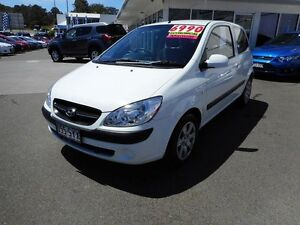 2009 Hyundai Getz TB MY09 S White 5 Speed Manual Hatchback Buderim Maroochydore Area Preview