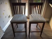 2 John Lewis Bar Stools excellent condition only 2 years old