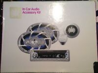 Brand new ministry of sound in-car audience accessory kit & 2 extra speakers. XMOSCACC01A