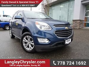2016 Chevrolet Equinox LT ACCIDENT FREE w/ REAR-VIEW CAMERA &...