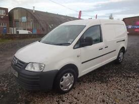 VW VOLKSWAGEN CADDY MAXi 1.9 TDi 104~58/08~6 DOORS~WHITE~TWIN SIDE DOORS~NO VAT