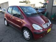 2001 Mercedes-Benz A160 W168 Avantgarde Burgundy 5 Speed Automatic Hatchback Revesby Bankstown Area Preview