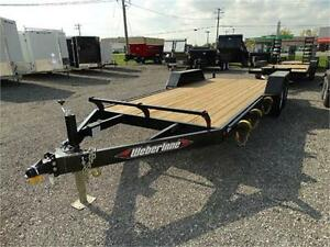 7 Ton Equipment Trailer with Slide In Ramps