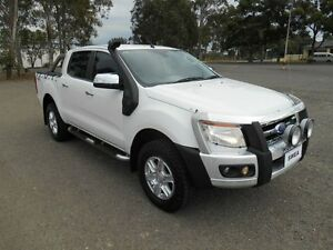 2012 Ford Ranger PX XLT 3.2 (4x4) White 6 Speed Manual Dual Cab Utility Condell Park Bankstown Area Preview