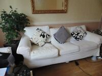IKEA 3 SEATER SOFA WITH SCATTER CUSHIONS AVAILABLE NOW £50 5ft Rug £20