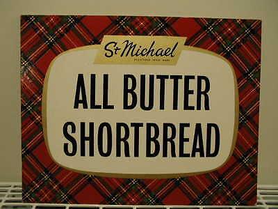 Vintage 1960s Original MARKS & SPENCER SHOP ST MICHAEL FOOD ADVERTISING CARD